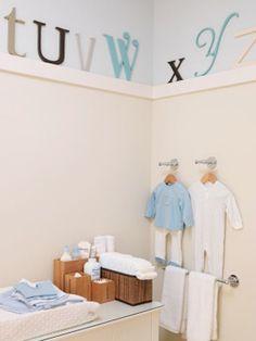 Very cute alphabet nursery.  Decorpad.com has a lot of photos of nurseries for inspiration.