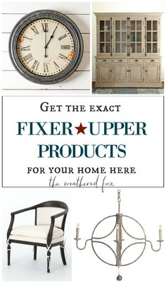 Wondering where to buy products seen on Fixer Upper. Check out this source list!