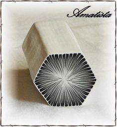 hexagonal kaleidoscope cane, Amatista Flickr. Screen name Pilar