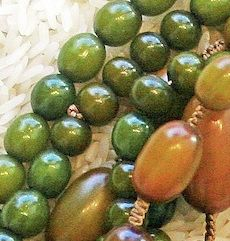 """GREEN COPAL AMBER (used in """"TRANQUIL"""" Necklace)"""