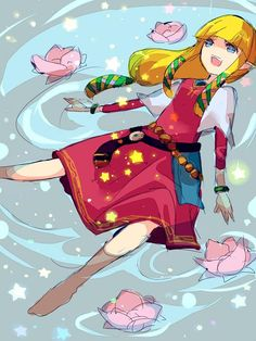 The Legend of Zelda - Princess Zelda << I do love swimming and lotus flowers...