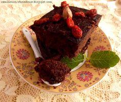 Słodko i wytrawnie. : Fit brownie bezglutenowe no.2 z awokado i jagodami...