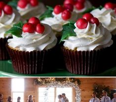 Winter Wedding Christmas Cupcakes