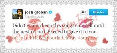 I thought this  December will be shit ... but no! I'm saved! Good birthday gift for me :D #joshgroban #grobanites