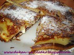 Dukan na Słodko: Słodkie Naleśniki z serem