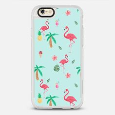 Trendy teal watercolor pink flamingo tropical summer pattern - protective iPhone 6 phone case in Clear and Clear by Pink Water | Summer vibe is always the good vibe! >>> https://www.casetify.com/product/YRWce_trendy-teal-watercolor-pink-flamingo-tropical-summer-pattern/iphone6/new-standard-case#/172607 | @Casetify