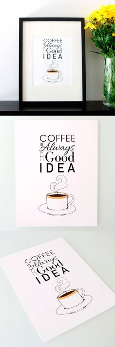 Coffee is always a good idea!  Come to Bagels and Bites Cafe in Brighton, MI for all of your bagel and coffee needs! Feel free to call (810) 220-2333 or visit our website www.bagelsandbites.com for more information!