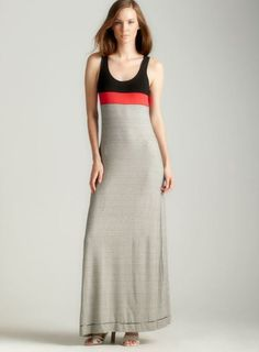 8813aedd86 Shop for Max Studio Solid On Stripe Maxi Dress. Get free delivery at  Overstock - Your Online Women s Clothing Destination!