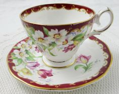 Windsor Commemorative Tea Cup and Saucer Royal Visit by TheAcreage