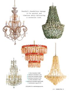 Sally Lee by the Sea | Beach Home Chandeliers in Seaside Style | http://nauticalcottageblog.com