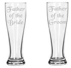 Hey, I found this really awesome Etsy listing at https://www.etsy.com/listing/200277253/etched-father-of-the-bride-and-groom
