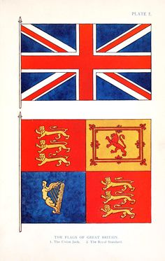 Design - Graphic - Engraving - Heraldry -  Flags of Great Britain