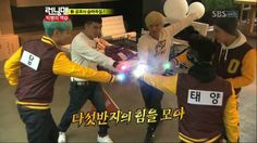 """""""This is the first time I do this since elementary school"""" - G-dragon. LOL!!!! Running Man: Episode 85 - Big Bang with the Call Rings"""