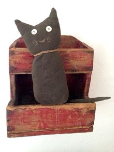 Antique early sock cat