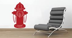 Fire Hydrant wall decals. Color variety.