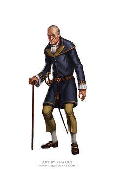 Mortimer by charro-art on DeviantArt Fantasy Male, High Fantasy, Fantasy Rpg, Medieval Fantasy, Character Costumes, Character Portraits, Dnd Characters, Fantasy Characters, Fantasy Inspiration