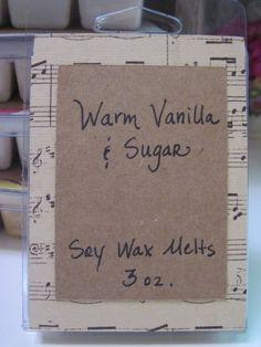 Soy Wax Tarts Hand Poured WARM VANILLA & SUGAR by gracenotegifts, $3.50
