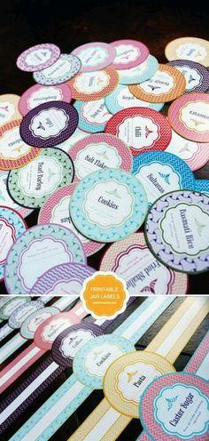 Free printable mason jar labels