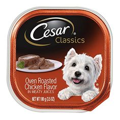 CESAR Canine Cuisine Oven Roasted Chicken Flavor Dog Food Trays 3.5 Ounces (Pack of 24) Reviews