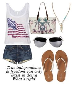 """""""Happy 4th of July"""" by maryanarivera ❤ liked on Polyvore featuring rag & bone/JEAN, Aéropostale, Samudra and Banana Republic"""