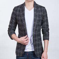 2017 Mens Business Casual Blazer Multi- pocket Plaid Masculino Costume Homme Men Blazer Jacket Suits For Men Plus size Khaki Blazer, Casual Blazer, Blazer Jacket, Jacket Men, Blazers For Men Casual, Business Casual Men, Business Formal, Plaid Fashion, Mens Fashion Suits