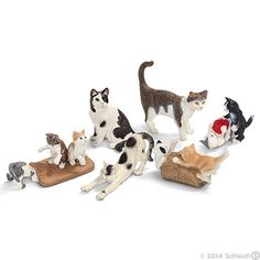 Striped or solid, these cats are a Schleich favorite!