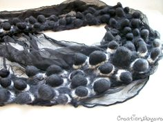 by creationsbyeve (Evelyn from Athens,Greece) - Shibori Nuno felt scarf