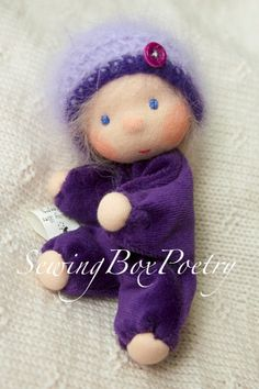 RESERVED FOR STEPHANIE - Waldorf doll - Tiny Baby Girl - Waldorf inspired Baby…