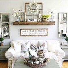 99 diy farmhouse living room wall decor and design ideas (12 | fai ... - Decorazioni Per Pareti Soggiorno