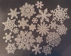Snowflakes made with beads