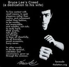 Bruce lee's creed