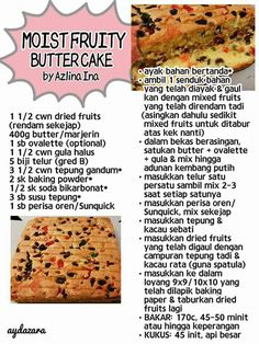 Layer Cake Recipes, Cookie Recipes, Resep Cake, Fruit Cakes, Malaysian Food, Pastry Cake, Spicy Recipes, Cake Cookies, No Bake Cake