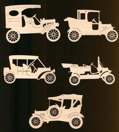 5 Pieces Antique Car Christmas Ornaments by TexasArtCraft on Etsy