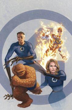 Splash Page Comic Art :: For Sale Artwork :: Mythos Fantastic Four by artist Paolo Rivera