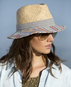 Pistil Designs - A delightful combo of texture and pattern, the Josephine blends components that together, create magic. The woven paper straw crown is naturally breathable, the striped hatband is pleated, and the brim is covered in a cotton weave that mixes color, stripe, and pattern in a way that feels inspired by sunny locales. An interior elastic band refines the fit.