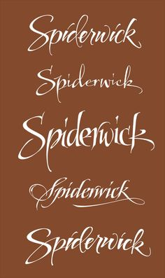 Expressive Calligraphy for a Movie Title: Spiderwick