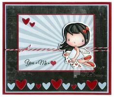 Franzi: JayJay's Kreative World for C. C. Designs - 12/30/14.  (ccdesign: Cupid stamps/dies) (Pin#1: CC Designs. Pin+: Valentines-Dies/ Punches...)