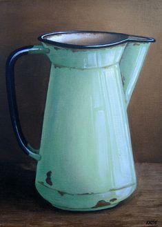 Katie Gobler - Jug x Watercolor Pictures, Watercolor Art, Pictures To Paint, Art Pictures, Background Tile, Rustic Garden Decor, Printable Pictures, Terracota, Color Pencil Art