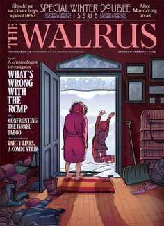2014 Jan -- Winter by Tanya Lam – The Walrus Store Yuko Shimizu, A Comics, Comic Strips, Order Prints, Cover Art, Magazine, Winter, Illustration, Store