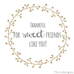 Thankful For Sweet Friends Like You!:Sullenger Blog