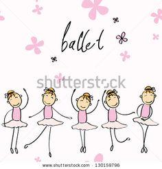 Vector illustration of a girl dancing ballet - stock vector