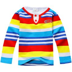 74203a896 US $5.22 |Aliexpress.com : Buy 18Months Baby Boys T shirt Cotton Long Sleeve  Striped Kids T shirts for Toddler Boys Fashion Boys Clothing from Reliable  boys ...