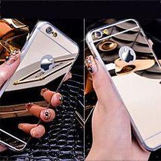 Especificações Para Apple Compatibilidade iPhone 6s Plus/6 Plus, iPhone 4s/4, iPhone SE/5s/5, iPhone 6s/6 Tipo Capa Traseira Duro/Macio Rígida Características Espelho, Galvanizado Estampa Cor Única Cor Dourado, Cinza, Prateado Material Acríl...