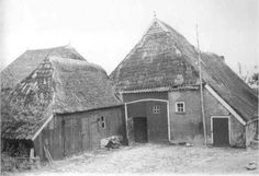 Thatched Roof, Old Farm Houses, Modern Buildings, Old Pictures, Barns, Netherlands, Holland, Shelter, Dutch