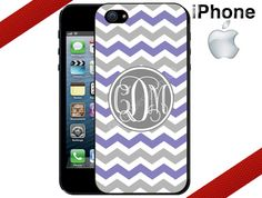 iPhone 4 Case  Purple and Grey Chevron by CrazianDesigns on Etsy, $15.99