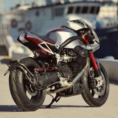 The latest bike from Filippo Barbacane of Officine Rossopuro. He's best known for his classic Moto Guzzi cafe racers,