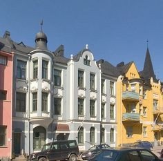 Jugend houses in Helsinki, Finland