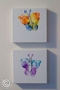 Kids butterfly footprints - Kids Craft gifts for mother | gifts for mothers day | gifts for mothers day from kids | gifts for mothers day from daughter | gifts for mom | gift for mom | gift for mom to be | gift for mom from daughter