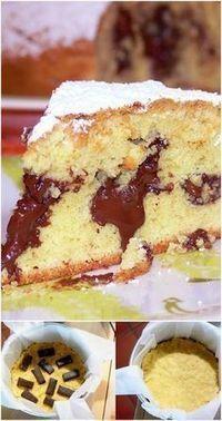 Soft pastry cake with chocolate- Torta soffice di frolla montata con cioccolato A soft dough with a melting melting heart, … - Italian Desserts, Mini Desserts, Delicious Desserts, Sweet Recipes, Cake Recipes, Dessert Recipes, Super Torte, Torte Cake, Sweets Cake