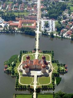 Moritzburg Castle - Dresden, Germany - All about Luxury Travel Places Around The World, Oh The Places You'll Go, Places To Travel, Around The Worlds, Beautiful Castles, Beautiful Buildings, Beautiful World, Wonderful Places, Beautiful Places